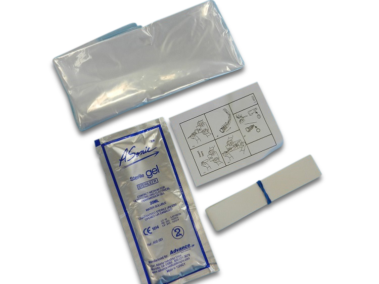 Ultrasound hoes/cover + gel 13x244KIT PE