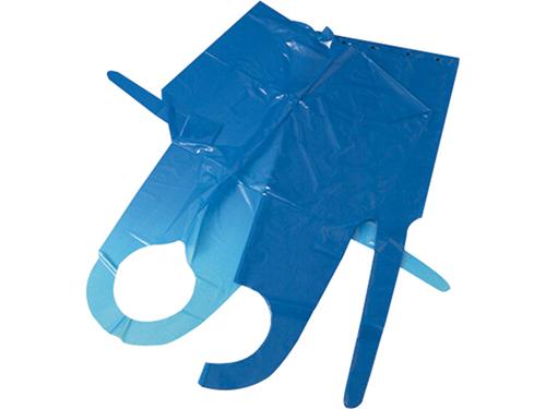 Scheurschorten blauw plastic
