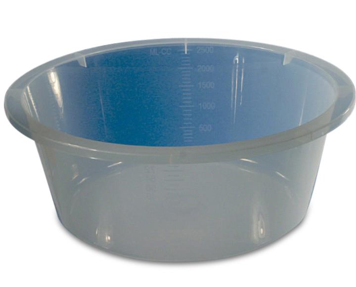 Cup/Gallipot 250ml transparant steriel