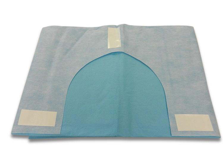 Kaak doek halsuitsparing 110 x 95 cm 3-laags. Steriel