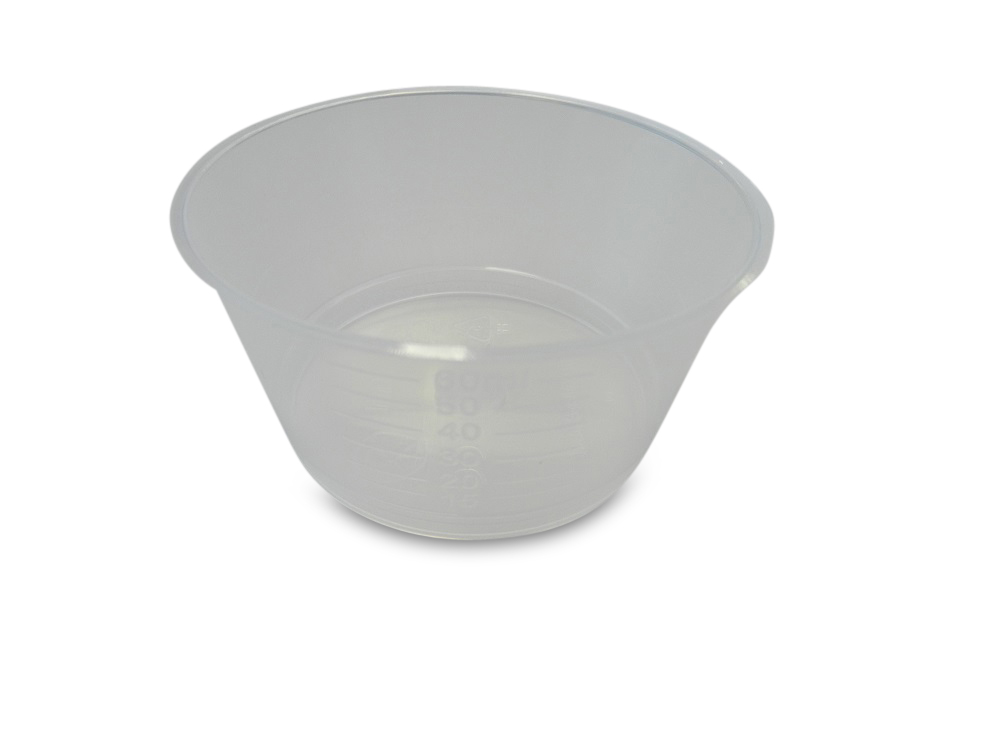 Cup/Gallipot 60ml transparant 2000/doos