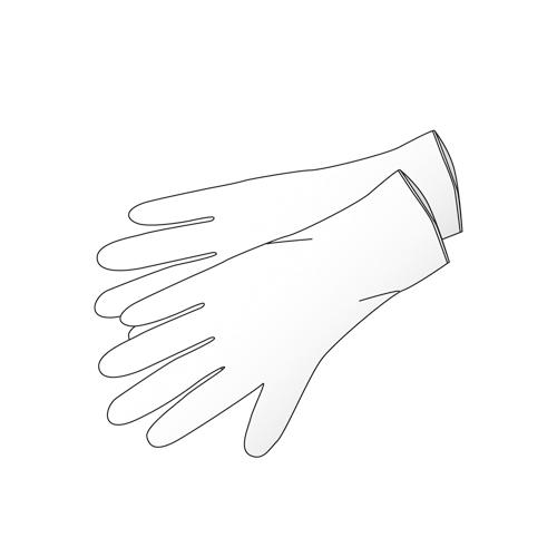 Handschoen   nitrile wit L Klinion soft