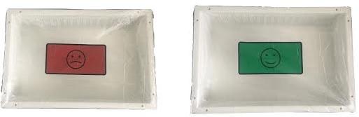Cover set smiley endoscopie 51x51cm NS